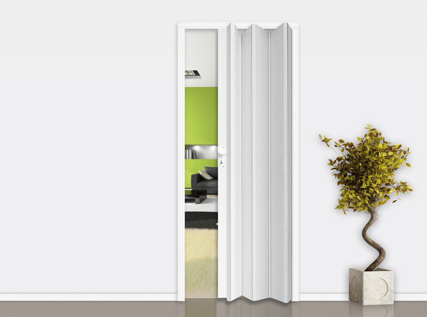 Gosimat Products Folding Door In Pvc With Or Without Glass