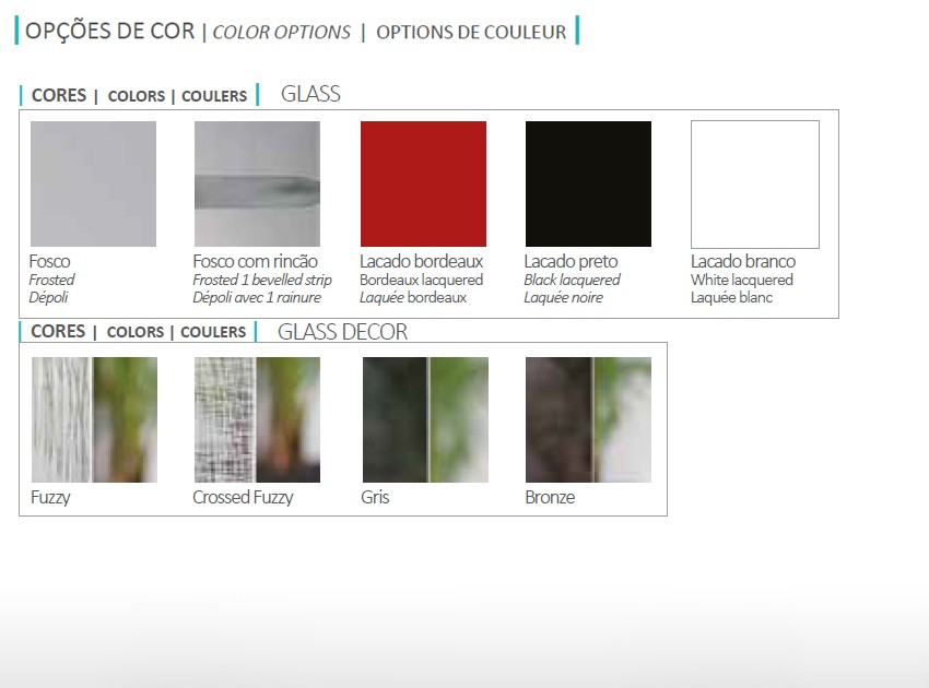 Cores gama GLASS