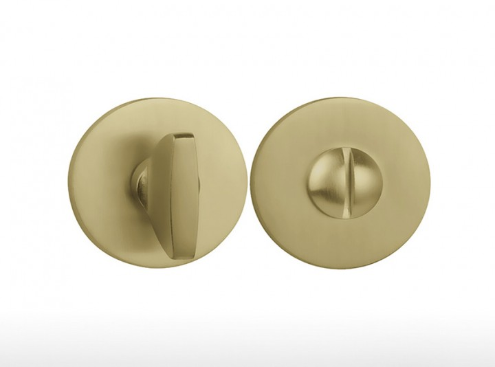 Round Button – 4041 5S Polished Brass